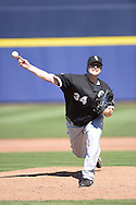 PEORIA, AZ - MARCH 06:  Matt Albers #34 of the Chicago White Sox pitches during the spring training game between the Chicago White Sox and San Diego Padres on March 6, 2015 at Peoria Stadium in Peoria, Arizona. (Photo by Ron Vesely)   Subject:  Matt Albers