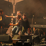 Noel Gallagher from Oasis attacked on stage in Toronto at the 2008 Virgin Festival. (Photo by Kyle Gustafson)