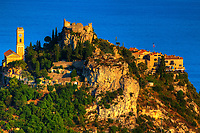 beautiful village of eze on the french riviera france  cote d'azur