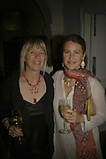 Kira Viola and Jane Cohan, VIP opening of Bill Viola exhibition Love/Death: The Tristan project. Haunch of Venison, St Olave's College, Tooley St. London and Dinner afterwards at Banqueting House. Whitehall. 19 June 2006. ONE TIME USE ONLY - DO NOT ARCHIVE  © Copyright Photograph by Dafydd Jones 66 Stockwell Park Rd. London SW9 0DA Tel 020 7733 0108 www.dafjones.com