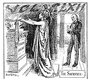 The Sacrifice (Frontispiece to Punch, or the London Charivari, Vol. CLXI)