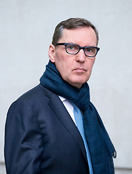 © Licensed to London News Pictures. 03/12/2017. London, UK. Former secretary of State for Health Alan Milburn arriving at BBC Broadcasting House to appear on The Andrew Marr Show this morning. Photo credit : Tom Nicholson/LNP