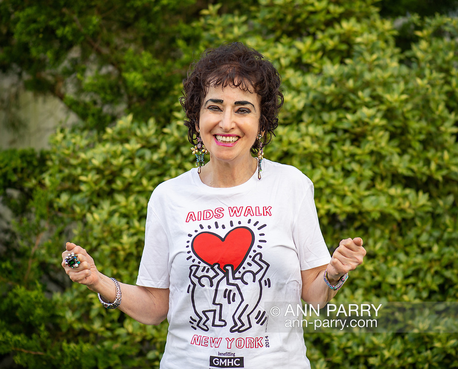 Merrick, New York, USA. May 3, 2018. Francine Goldstein looks forward to her 30th year of participating in AIDS WALK NEW YORK, a fundraising walk and run in Central Park on May 20, 2018, benefitting Gay Men's Health Crisis (GMHC). Goldstein has raised over $500,000 from sponsors over the years, and currently is the 2018 2nd highest fundraiser, at about $35.000.