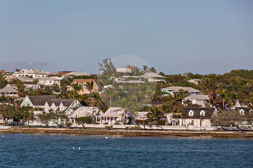 View of Dunmore Town from Government Dock, Harbour Island, The Bahamas
