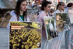 June 16, 2018 - Lyon, France - Happening of the association L214 against the hen farm in battery in Lyon, France, on June 16th, 2018. (Credit Image: © Nicolas Liponne/NurPhoto via ZUMA Press)