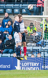 Falkirk's Will Vaulks injured.<br /> Dundee 0 v 1 Falkirk, Scottish Championship game played today at Dundee's Dens Park.<br /> © Michael Schofield.
