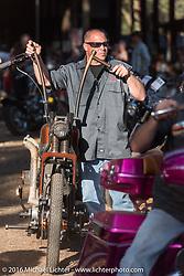 After the Harley-Davidson Editors Choice bike show at the Broken Spoke Saloon. Daytona Bike Week 75th Anniversary event. FL, USA. Wednesday March 9, 2016.  Photography ©2016 Michael Lichter.