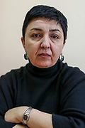 A Russian Language teacher Mirzjanyan Nonna from Hadrut, who started teaching at Primary school No 10. said she misses her pupils from Hadrut and that she would like to go back and continue her teaching career. She was pictured on Wednesday, Dec 23, 2020 during her teaching time with Armenian pupils in Stepanakert. She is a mother of three children and her husband serves at the self-proclaimed Republic of Artsakh in Nagorno Karabakh. Members of the National Assembly of the Nagorno-Karabakh Republic are working on a draft law to make Russian the second official language of Nagorno Karabakh, the first one being Armenian. Children of Primary School Number Ten are learning at the renovated building, which was damaged in shelling attacks during 44 days of the war in Stepanakert, Nagorno-Karabakh. The region saw an end of the conflict after a ceasefire agreement was signed by the leaders of Armenia, Russia and Azerbaijan on 9 November to end the military conflict in Nagorno-Karabakh. Azerbaijani government established the Karabakh Region Authority (KRU) for the districts of Nagorno-Karabakh that came under Baku's control. The city of Stepanakert (Khankendi) is now under the jurisdiction of the KRU of the Ministry of Justice of Azerbaijan. (Photo/ Vudi Xhymshiti)