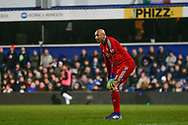 Watford goalkeeper Heurelho Gomes (1) during The FA Cup 5th round match between Queens Park Rangers and Watford at the Loftus Road Stadium, London, England on 15 February 2019.