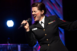 190320-N-LC494-1488<br /> CLEVELAND, Tenn. (March 20, 2019) Musician 1st Class Maia Rodriguez, from Cleveland, Ohio, performs with the U.S. Navy Band chorus Sea Chanters at Lee University in Cleveland, Tennessee. The group performed in 18 cities in nine states, connecting Americans to their Navy. (U.S. Navy photo by Senior Chief Musician Adam Grimm/Released)