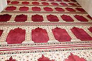 the carpet in Nuzha Mosque (built 1937) In Jerusalem Boulevard, Jaffa, Israel