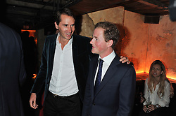 Left to right, OTIS FERRY and GUY PELLY at the launch party for the new nightclub Tonteria, 7-12 Sloane Square, London on 25th October 2012.