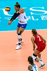 07-10-2018 JPN: World Championship Volleyball Women day 8, Nagoya<br /> Netherlands - Puerto Rico 3-0 / Daly Santana #1 of Puerto Rico