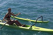 Outrigger Canoe, Polynesian woman<br />