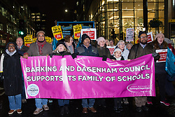 London, UK. 20th November, 2018. Education staff, parents, governors, councillors, MPs and students take part in the March for Education to protest against crises involving education funding, recruitment, staff retention and remuneration.