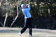 WILMINGTON, NC - MARCH 19: North Carolina's Jose Montano (BOL) tees off on the Ocean Course fifth hole. The first round of the 2017 Seahawk Intercollegiate Men's Golf Tournament was held on March 19, 2017, at the Country Club of Landover Nicklaus Course in Wilmington, NC.