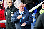 Peterborough United manager Steve Evans before the EFL Sky Bet League 1 match between Peterborough United and Charlton Athletic at London Road, Peterborough, England on 26 January 2019.