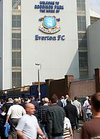 Photo: Paul Thomas.<br />Everton v Manchester United. The Barclays Premiership. 28/04/2007.<br /><br />Goodison Park.