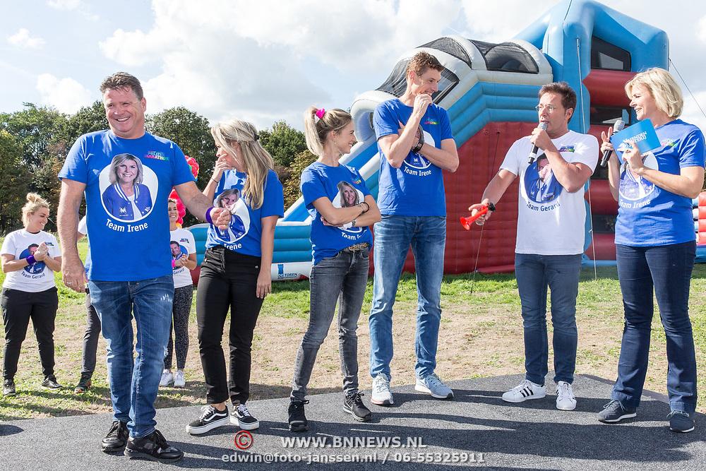 NLD/Amsterdam/20180925 - BN'ers over stormbaan voor metabole ziekte, Gerard Jolin en irene moors met de deelnemers