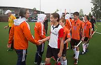 ABCOUDE - VOLVO JUNIOR CUP hockey . Abcoude C1en Heerhugowaard   strijden in Abcoude om de cup. Heerhugowaard wint met 3-1. De teams werden gesteund door spelers van Jong Oranje. COPYRIGHT KOEN SUYK