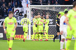 January 14, 2018 - Lyon, France - 07 Karl TOKO EKAMBI (sco) - 05 Thomas MANGANI (sco) - 20 Flavien TAIT (sco) - 15 Pierrick CAPELLE (sco) - JOIE (Credit Image: © Panoramic via ZUMA Press)