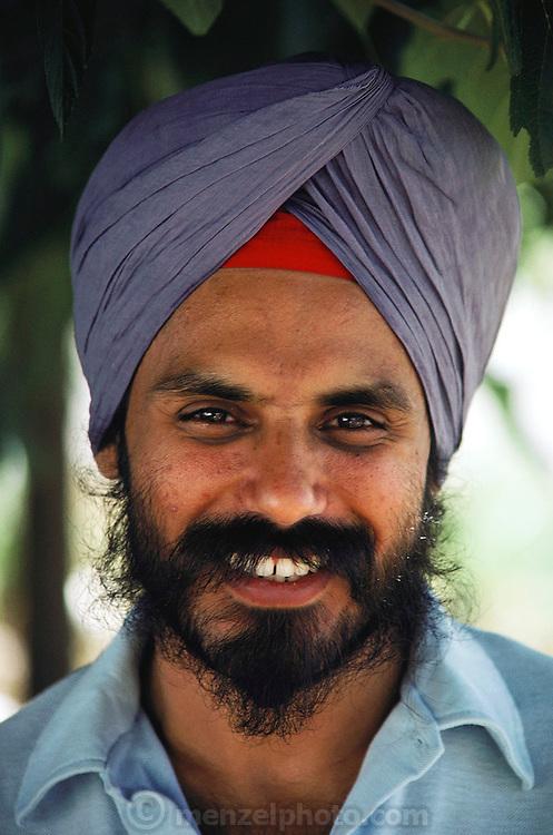 Sikh farmer in Yuba City, California. MODEL RELEASED.
