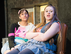 Rita, Sue and Bob Too<br /> By Andrea Dunbar<br /> at The Royal Court Theatre, London, Great Britain <br /> Press photocall <br /> 11Pm h January 2018 <br /> <br /> Directed by Kate Wasserberg <br /> <br /> L to R:<br /> Taj Atwal as Rita <br /> Gemma Dobson as Sue <br /> <br /> <br /> <br /> <br /> <br /> <br /> <br /> Photograph by Elliott Franks
