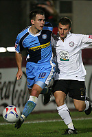 Photo: Rich Eaton.<br /> <br /> Hereford United v Wycombe Wanderers. Coca Cola League 2. 12/09/2006. Matt Bloomfield #10  left of Wycombe breaks down the wing