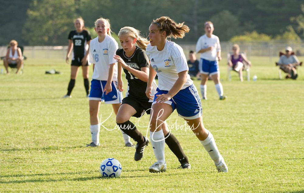Gilford girls varsity soccer versus Prospect Mountain High School August 31, 2010.