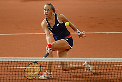 08-02-2015 NED: Fed Cup Nederland - Slowakije, Apeldoorn<br /> Magdalena Rybarikova.