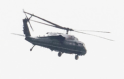 © Licensed to London News Pictures. 09/07/2018. London, UK. A US Marines Military helicopter is seen over London ahead of the visit of President Trump to the UK later this week.. Photo credit: Peter Macdiarmid/LNP