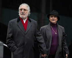 Dave Lee Travis arriving with his wife Marianne Griffin at Southwark Crown Court for his hearing, Southwark Crown Court, London, United Kingdom. Friday, 28th March 2014. Picture by Daniel Leal-Olivas / i-Images