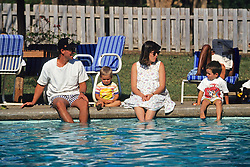 Family At Lilongwe Hotel Pool