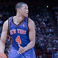 06 October 2010: New York Knicks forward Anthony Randolph #4 is seen during the Minnesota Timberwolves 106-100 victory over the New York Knicks, during 2010 NBA Europe Live, at the POPB Arena in Paris, France.