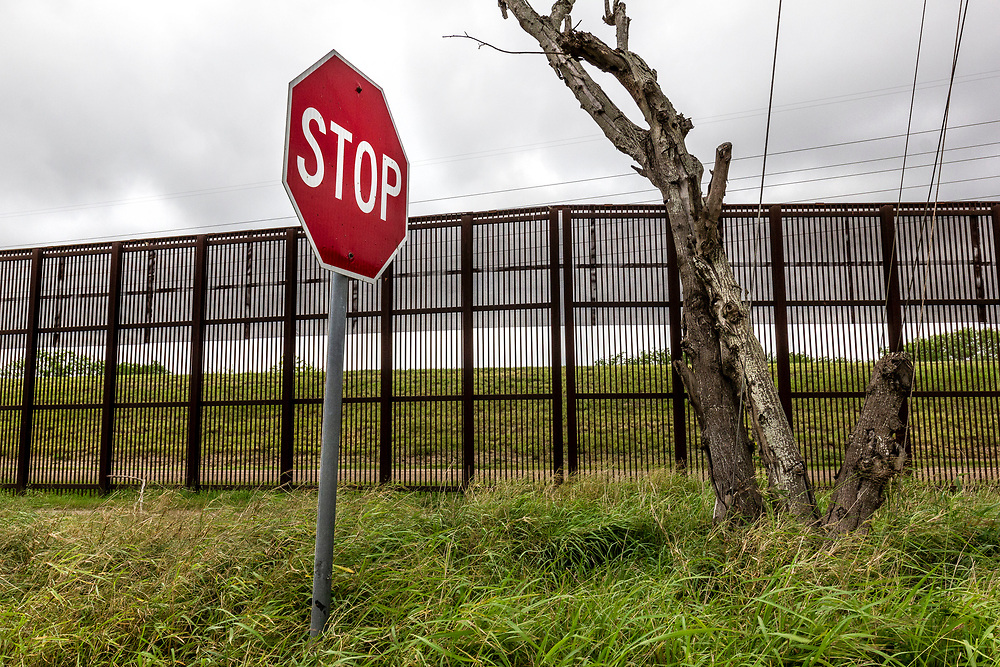 Border fence with Mexico, Brownsville, Texas, USA