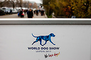 Parking area for the World Dog Show 2017 in Leipzig, Germany. Over 31,000 dogs from 73 nations will come together from 8-12 November 2017 in Leipzig for the biggest dog show in the world.