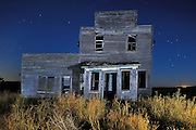Old general store in ghost town<br /> Bents<br /> Saskatchewan<br /> Canada