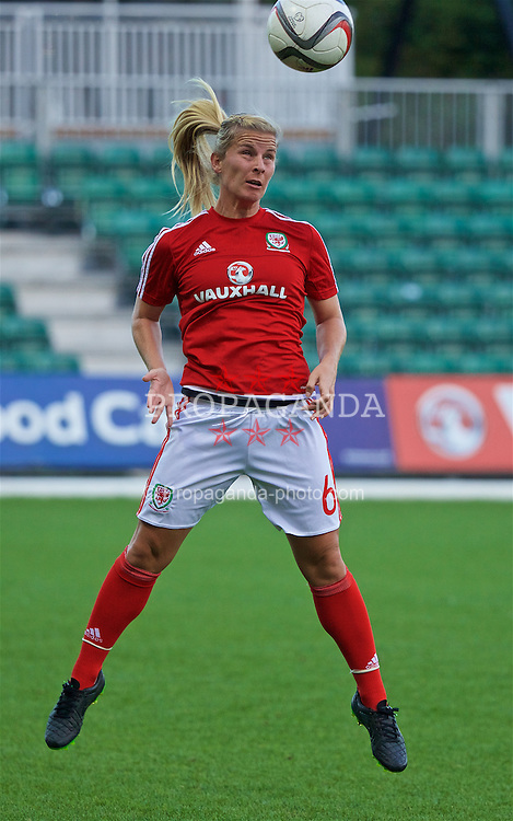CARDIFF, WALES - Friday, August 19, 2016: Wales' Kylie Davies warms up before the international friendly match against Republic of Ireland at Rodney Parade. (Pic by Laura Malkin/Propaganda)