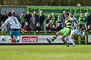 Forest Green Rovers Christian Doidge(9) shoots at goal scores a goal 1-0 during the Vanarama National League match between Forest Green Rovers and Chester FC at the New Lawn, Forest Green, United Kingdom on 14 April 2017. Photo by Shane Healey.