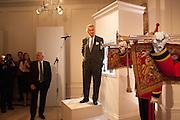 BERNARD FORNAS; ARNAUD BAMBERGER, Cartier Tank Anglaise launch. Kensington Palace Orangery, London.  19 April 2012.