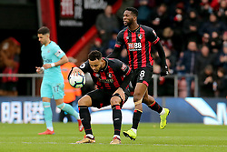 Bournemouth's Joshua King celebrates scoring his side's first goal of the game and places the ball in the centre circle during the Premier League match at the Vitality Stadium, Bournemouth.
