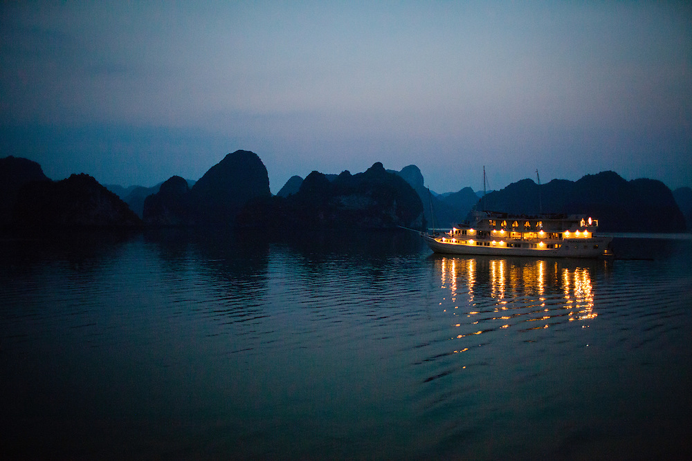 Halong Bay, where the dragon descends into the sea, is comprised of over 2000 islands rising from the emerald waters of the Gulf of Tonkin. It was designated a World Heritage Site in 1994.