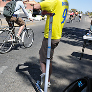 There and Back Bikes owner Steve Vihel with repair stand at Cyclovia Tucson 2011. Bike-tography by Martha Retallick.