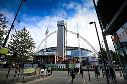 13 September 2017 -  UEFA Champions League (Group H) - Tottenham Hotspur v Borussia Dortmund - Construction work continues on the new residential housing in front of Wembley Stadium - Photo: Marc Atkins/Offside