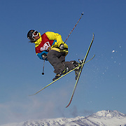 Charles Gagnier, Canada, in action in the Slopestyle Finals during The North Face Freeski Open at Snow Park, Wanaka, New Zealand, 2nd September 2011. Photo Tim Clayton..