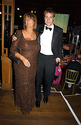 LADY ANNABEL GOLDSMITH and her son BEN GOLDSMITH at the party Belle Epoque hosted by The Royal Parks Foundation and Champagne Perrier Jouet held at the Lido Lawns of the Serpentine, Hyde Park, London on 14th September 2006.<br /><br />NON EXCLUSIVE - WORLD RIGHTS