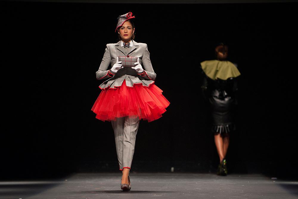 MURCIA, ESPANA - 18 DE MARZO: Desfile del disenador Fernando Aliaga en la Murcia Fashion Week en el Teatro Circo el martes 18 de marzo de 2014 en Murcia, Espana. (Photo by Aitor Bouzo)