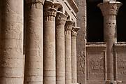 Horus temple columns, Edfu, (3rd century BC), Temple of Horus, Edfu, Egypt