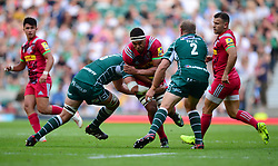 Mike Coman of London Irish tackles Ben Glynn of Harlequins - Mandatory by-line: Alex James/JMP - 02/09/2017 - RUGBY - Twickenham Stadium - London, England - London Irish v Harlequins - Aviva Premiership