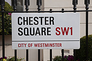 "London, UK. Monday 8th April 2013. London residence on Chester Square of Baroness Margaret Thatcher following the announcement of her death. Maggie Thatcher (87), aka the ""Iron Lady"" dominated British politics for 20 years, died peacefully on 8/4/13 following a stroke."